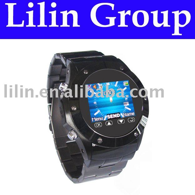 "Watch Mobile Phone ,Quad-band,Hidden DVR,1.3MP Camera,1.5"" TFT Touch Screen,Handwriting,Bluetooth,FM Radio,MP3,4,Multilingual(China (Mainland))"
