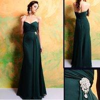 2011 New Design wholesale 7324 Floor-length Sleeveless chiffon Bridesmaid Dress/Party Dress