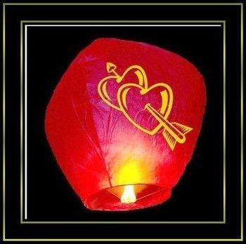 50PCS/LOT Flying Fly Kong Ming Sky light Lantern Balloon Red,Valentine's Day gift