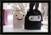 free shipping,Wholesale, 10pcs/lot ,Ninja rabbit travel pouch, black and white,Storage bags,cartoon bags,Pouch