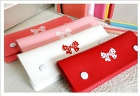 Free shipping wholesale 25pcs/lot exquisite Korean woman Bow Pencil&Stationery Bag&Storage Bag&Pencil Case