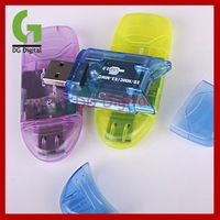 50pcs/LOT SDHC Card Reader,USB SD Card Reader Free shipping wholesale