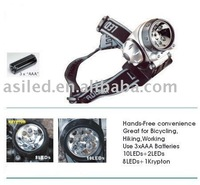 Led Headlight,Led Headlamp,Front Light With 7 LED or 12 LED,Shock Resistant+Free Shipping