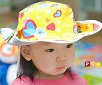 Korean children cotton Denim cowboy hats Toddler's sun caps hot 20pcs