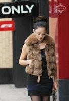 Ladies' Fox  Fur Vest-Fox Waistcoat 018