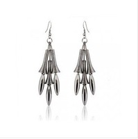 Hot selling Wholesale Smooth delicate tassel drop earrings 50pairs/lot free shipping by DHL