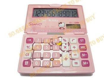 Hellokitty hello kitty 12 digit Solar Power Calculator pink