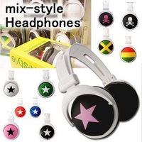 Star portable design Mix-style Stereo Headphones For ipod For Ipad For iphone mix style For MP4 MP3 Phone Laptop