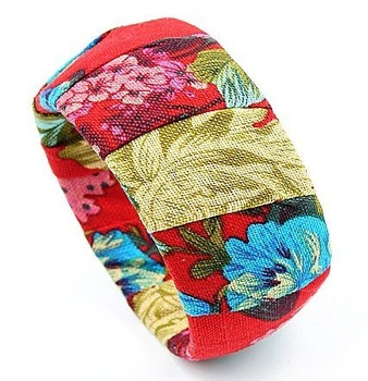 Free shipping,2011 new fashion fabric flower red bracelet, Bangles hot sell in EU and USA