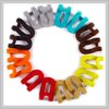 free shipping-Color flocking hook Hanger,hooks for hanger,100 pieces/lot,mix colors