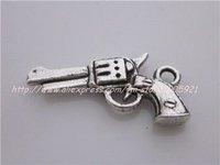 free shipping 20pcs/lots antique silver fashion gun charms pendants/alloy metal pendant