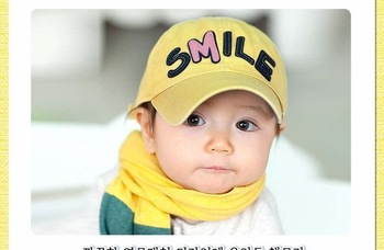 Baby cap babies Hats child Caps smile Baseball cap 5 colors 20pcs/lot