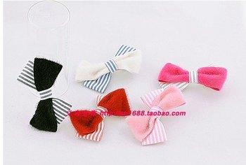 FREE SHIPPING Wholesale 6 PCS/LOT Bow Knot Hair Clip, Hair Ornament, Hair Decoration, Headwear, Fashion Accessory