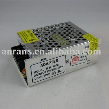 8pcs Free shipping 12V 3A DC Switching Power Supply CCTV 110V 220V OUT