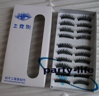 10 Pairs Black Thick Fake False Eyelashes Makeup ,100packs/lot,wholesale,free shipping