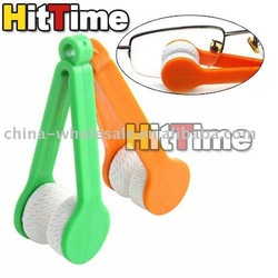 Mini Sun Glasses Eyeglass Microfiber Brush Cleaner New 10Pcs [3782|01|10](China (Mainland))