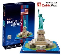 Birthday gifts,educational puzzle toys,3D paper model,World Architecture series,Paper craft,The Statue of Liberty