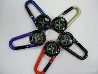 Brand New Metal Key Chain  Carabiner Compass  Swamp Outdoor50pcs