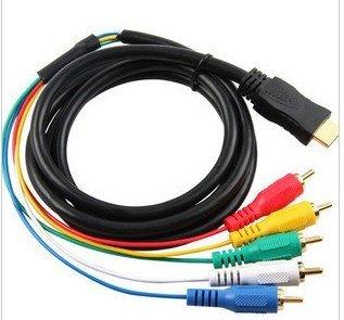 HDMI Male to 5 RCA RGB Audio Video AV Component(China (Mainland))
