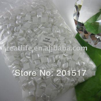 wholesale 2000pcs Free shipping 8mm white  imitation square shape flatback pearls nail cellphone laptop art