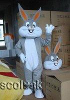 Free Shipping+ Superb Designer Costume Bugs Bunny Monster Mascot Costume For Kid