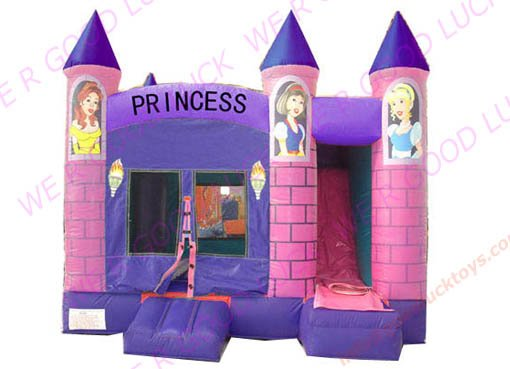 Princess castle, combo, offordable inflatabl castle, gifts, garden games,CO10 +CE blower,(China (Mainland))