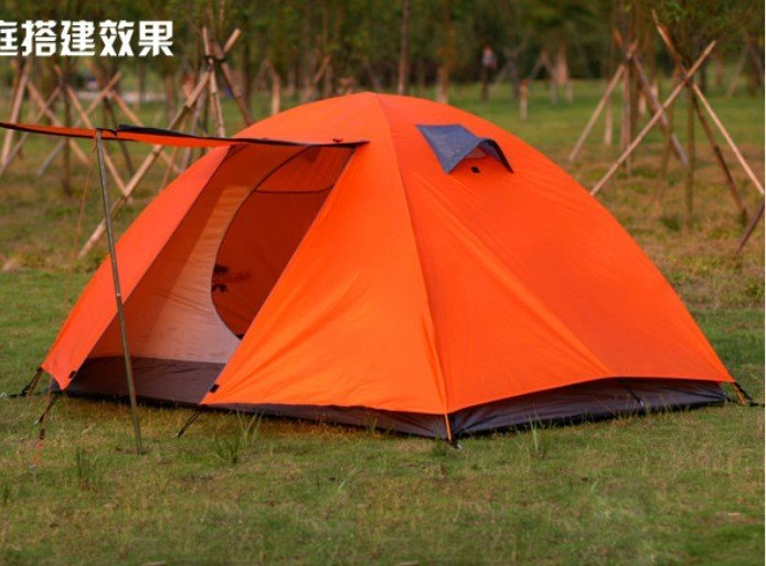 free shipping double layer outdoor hiking tent camping tent traveling tent outdoor traveling tent(China (Mainland))