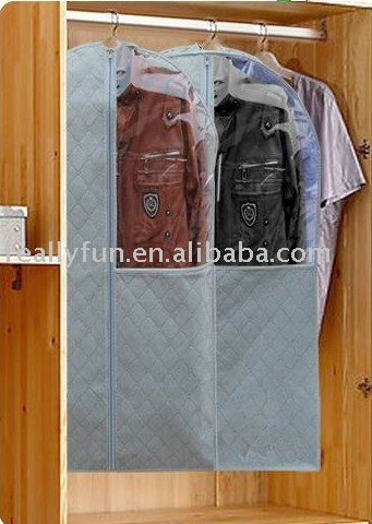 10pcs/lot,dustproof, mothproof, moistureproof,Bamboo Charcoal Non-woven fabric suit cover,big size garment bag(90*58cm)(China (Mainland))