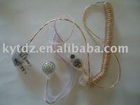 KYT transparent extendable line walkie talkie headphone