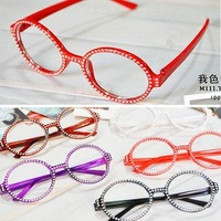 Free shipping(50pcs) Fashion glasses Frame ,Eyeglasses Frame,Colorful Diamond Frame