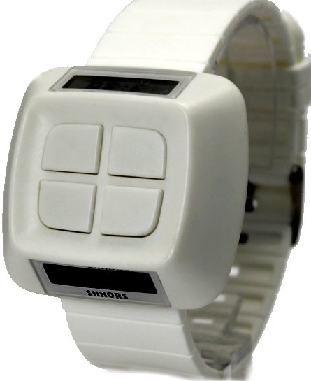 Fashion Free Shipping White Color Digital Unisex Sport Watch--Gift IN FASHION (DW387E)(China (Mainland))