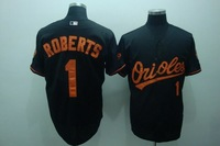 Free shipping baseball jerseys Baltimore Orioles 1# roberts jersey,grey,Baltimore Orioles jerseys