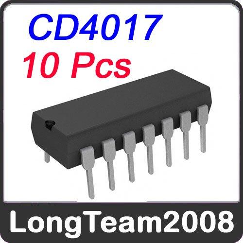 Потребительская электроника Other 10 IC CD4017 DIP 16P IC бесплатная доставка горячее надувательство интегральные схемы оригинальный mc14556bcp ic dcoder demux dual 1 4 16 dip 14556 mc14556 10 шт