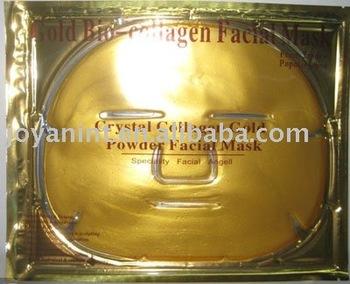 Free Shipping! Crstyal Collagen Gold Facial Mask sheet (50pieces/lot)