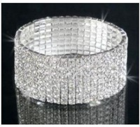 Stunning 9 Rows Bridal Crystal Bangle Bracelet