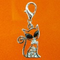 Free Shipping  Cat  Crystal Pet Charm ,dog collar pendant charm 20pcs/lot
