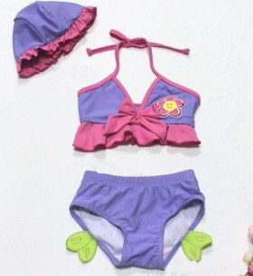 baby girl Two Pieces bikini suit 2~9T Cheap kid cartoon summer beach costume Many styles(China (Mainland))