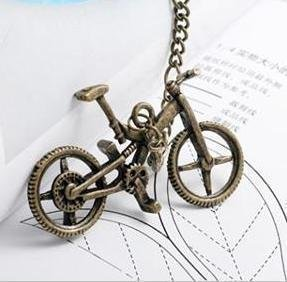 Antique bronze bike necklace, FASHION JEWELRY 10PC/LOT