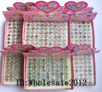 720 pcs Cute mixed love popular Fancy Ring in Box gifts + free shipping