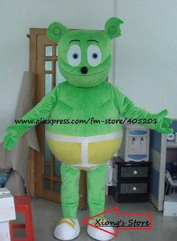 green cute bear cartoon costume