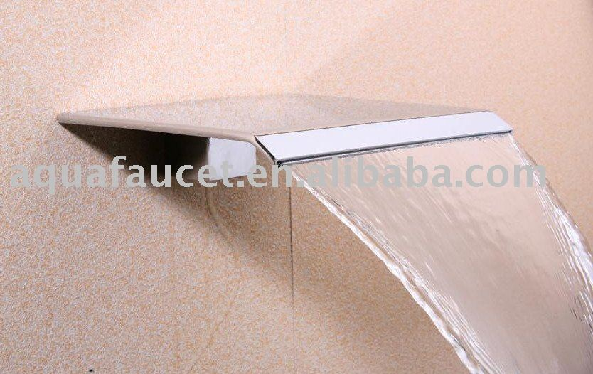 Hot Single Handle Lever Gold Waterfall Bathroom Sink Basin Faucet .