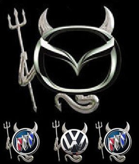 100 pcs/lot Little Devil personalized 3D Car Logo Sticker For all models