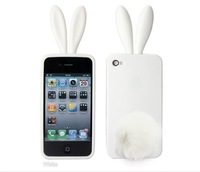 New! 10pcs/lot, Wholesale Free shipping,  Rabbit Cover Case for iPhone, Hot selling!