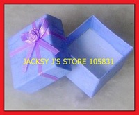 35% OFF DISCOUNT! PURPLE BOW PAPER Jewelry boxes 4*4*3CM Packaging JEWELLERY RING EARRINGS PENDANT Gift Box 120PCS Wholesale