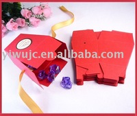 FREE SHIPPING--Red Wedding Chinese Take Out Favor Boxes,Party Gift Box,Candy Box, Decoration Box (JCO-083)