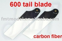 F01321 Carbon Fiber CF tail blades blade for Align T-Rex Trex 600 helicopter / 600 Nitro + Free shipping