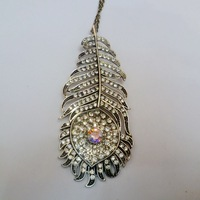 Free shipping Peacock feathers Alloy pendants/Fashion Retro pendants,necklace chain is free