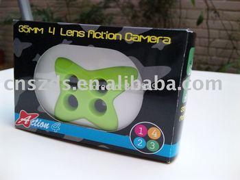 10 pcs/ lot, LOMO Film Camera, 2 lens, 3 lens, 4 lens cam robot disderio action 35mm cam without flash outdoor