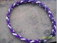 100pcs/lot 3 ropes tornade Necklace 3 Ropes Tornado Germanium Titanium Necklace, sports x45 Athletes necklace 45cm/50cm/55cm