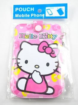 Free shipping,Hello kitty Mobile Phone Pouch,Super Cute and Beautiful Mobile Pouch